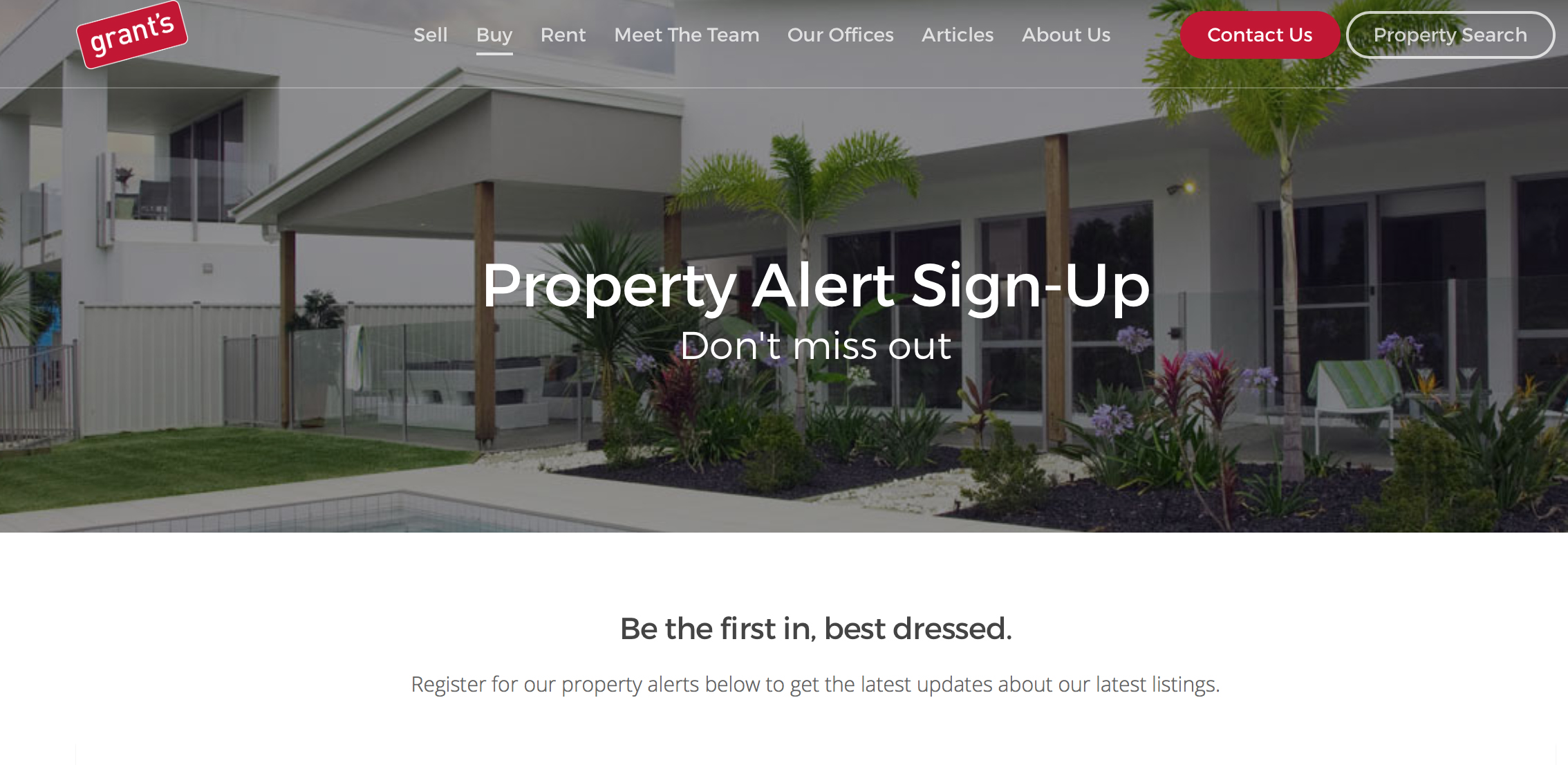 All the latest property listings to your inbox – Grants property alerts